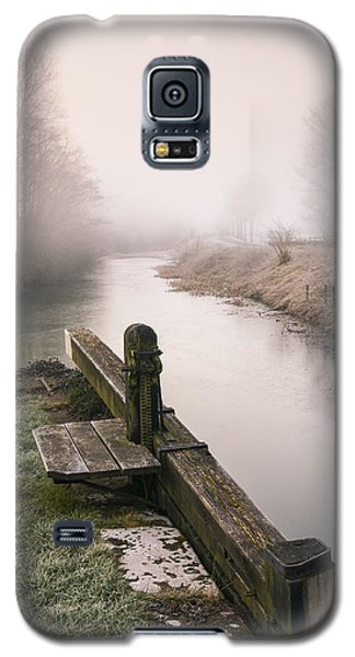 Galaxy S5 Case featuring the photograph Lock Gates On A Still Misty Morning. by Trevor Chriss
