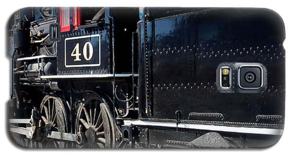 Galaxy S5 Case featuring the photograph Locomotive With Tender by Gunter Nezhoda
