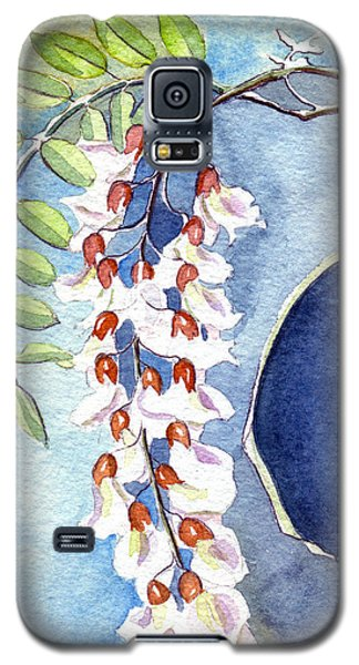 Galaxy S5 Case featuring the painting Locust Bloom by Katherine Miller