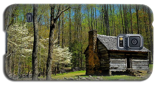 Log Cabin In The Smoky Mountain National Park Galaxy S5 Case