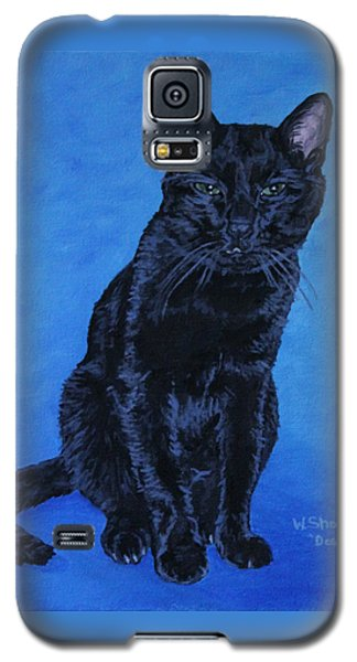 Galaxy S5 Case featuring the painting Loki by Wendy Shoults