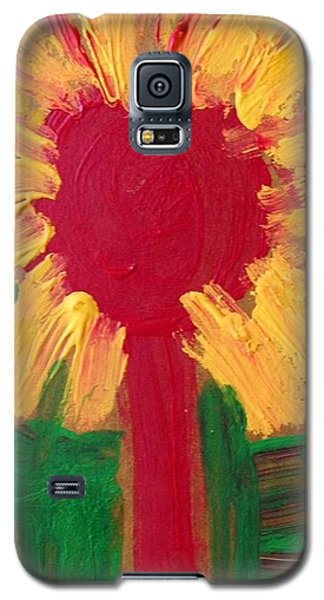 Galaxy S5 Case featuring the painting Lolipop Flower by Mary Carol Williams