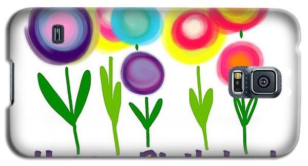 Galaxy S5 Case featuring the digital art Lollipop Flowers  by Christine Fournier