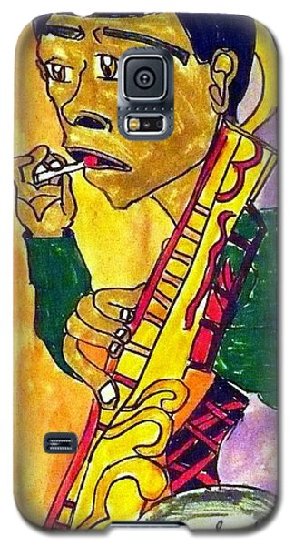 Galaxy S5 Case featuring the painting Lollipop Man by Artists With Autism Inc