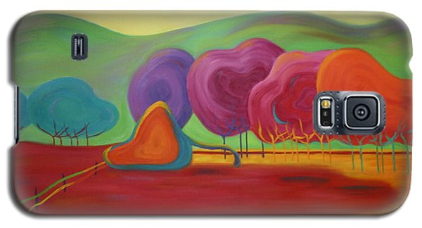 Galaxy S5 Case featuring the painting Lollipop Ranch by Nancy Jolley