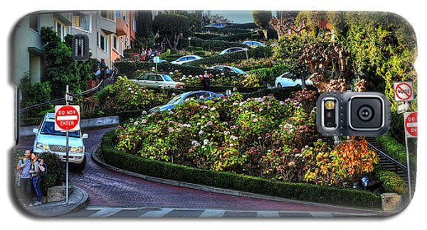 Galaxy S5 Case featuring the photograph Lombard Street  by Kevin Ashley