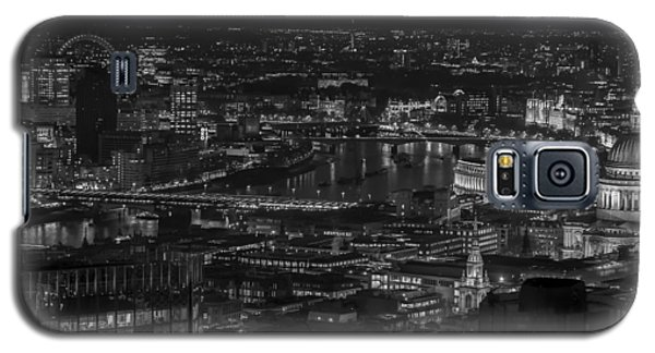 London City At Night Black And White Galaxy S5 Case
