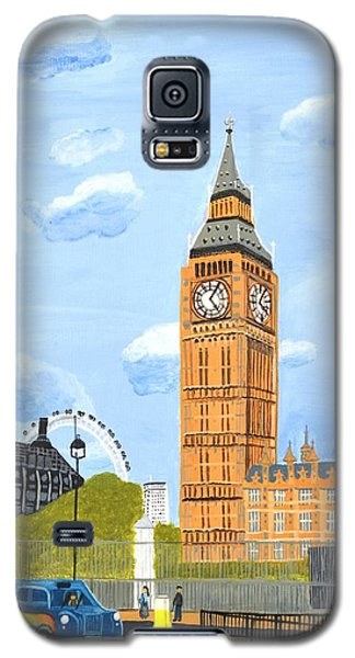 Galaxy S5 Case featuring the painting London England Big Ben  by Magdalena Frohnsdorff