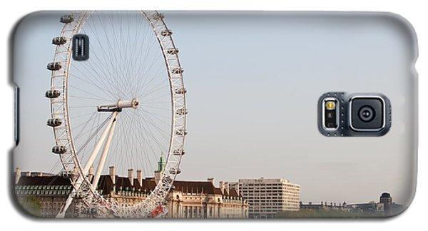 Galaxy S5 Case featuring the photograph London Eye Day by Matt Malloy