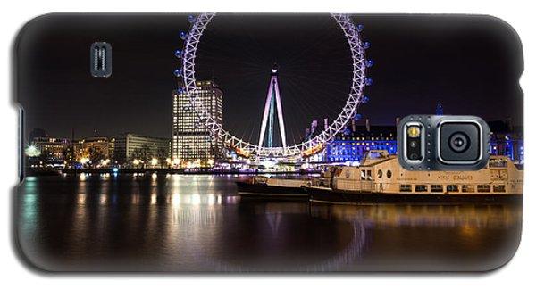 Galaxy S5 Case featuring the photograph London Eye Night by Matt Malloy