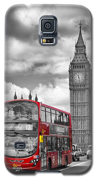 London - Houses Of Parliament And Red Bus Galaxy S5 Case