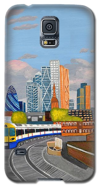 London Overland Train-hoxton Station Galaxy S5 Case