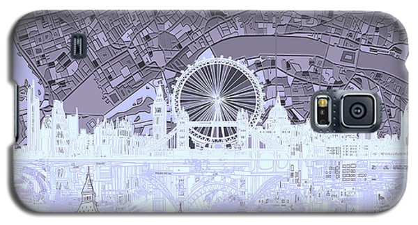 London Skyline Abstract 10 Galaxy S5 Case