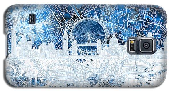 London Skyline Abstract 13 Galaxy S5 Case by Bekim Art