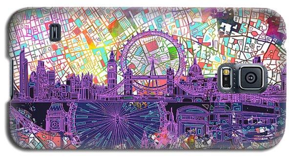 London Skyline Abstract Galaxy S5 Case by Bekim Art