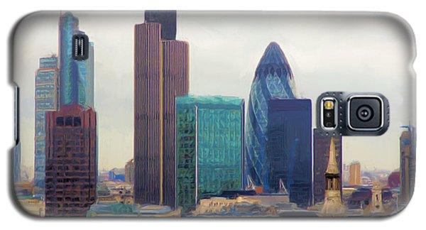 Galaxy S5 Case featuring the digital art London Skyline by Ron Harpham