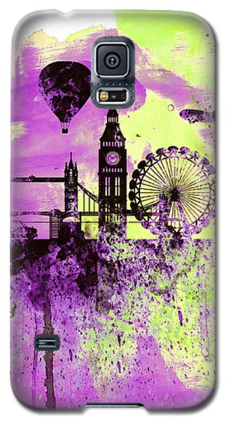 London Skyline Watercolor 1 Galaxy S5 Case by Naxart Studio