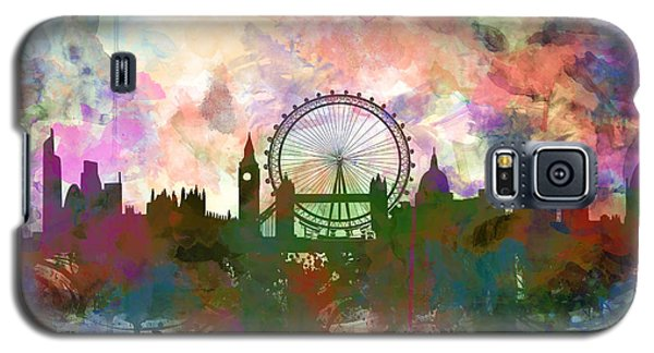 London Skyline Watercolor Galaxy S5 Case
