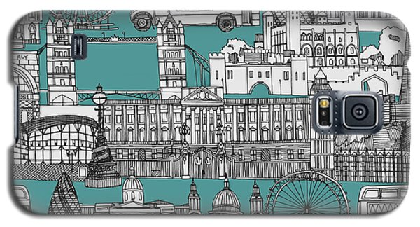 London Toile Blue Galaxy S5 Case by Sharon Turner