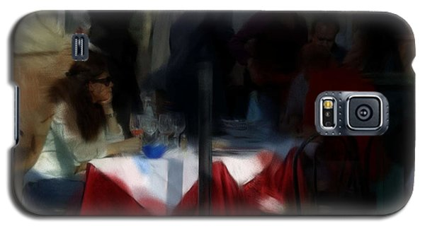 Galaxy S5 Case featuring the digital art Lone Diner by Ron Harpham