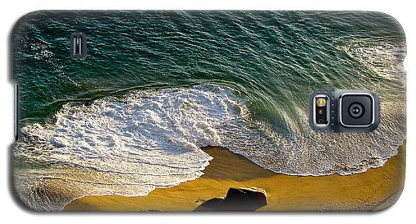 Galaxy S5 Case featuring the photograph Lone Hiker At Sunset On Secluded Beach At Cabo San Lucas by Sean Griffin