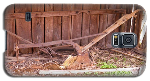 Galaxy S5 Case featuring the photograph Lone Plow by Nick Kirby