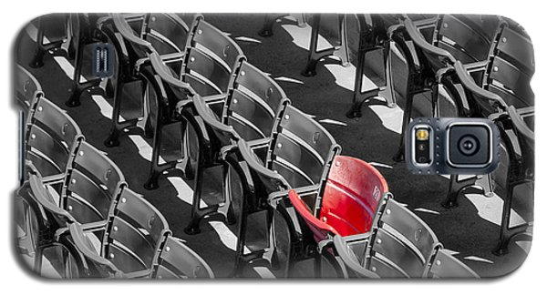 Lone Red Number 21 Fenway Park Bw Galaxy S5 Case