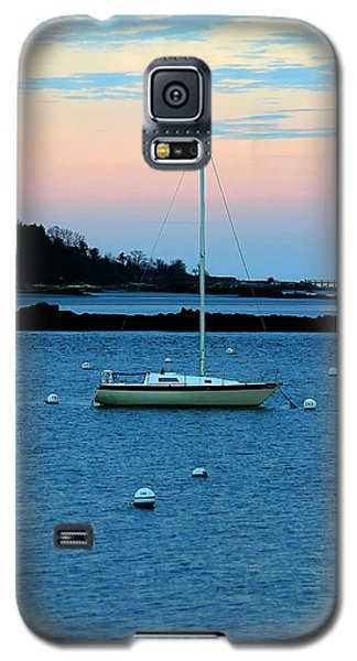 Lone Sailboat At York Maine Galaxy S5 Case