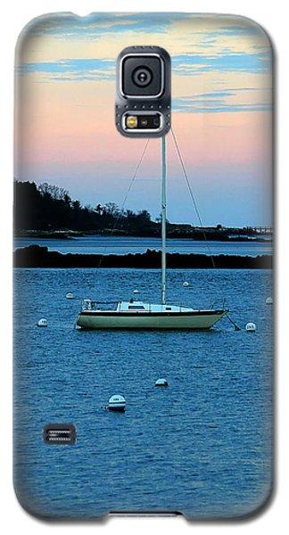 Lone Sailboat At York Maine Galaxy S5 Case by Denyse Duhaime