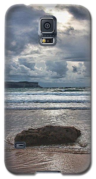 Galaxy S5 Case featuring the photograph Lone Stone by Angel Jesus De la Fuente