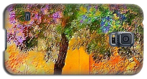 Lone Tree Orange Wall - Square Galaxy S5 Case