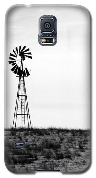 Galaxy S5 Case featuring the photograph Lone Windmill by Cathy Anderson
