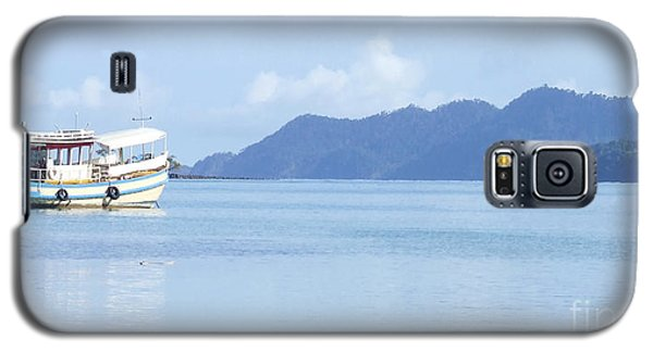 Galaxy S5 Case featuring the photograph Lonely Boat by Andrea Anderegg