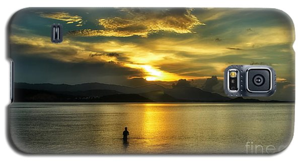 Lonely Fisherman Galaxy S5 Case