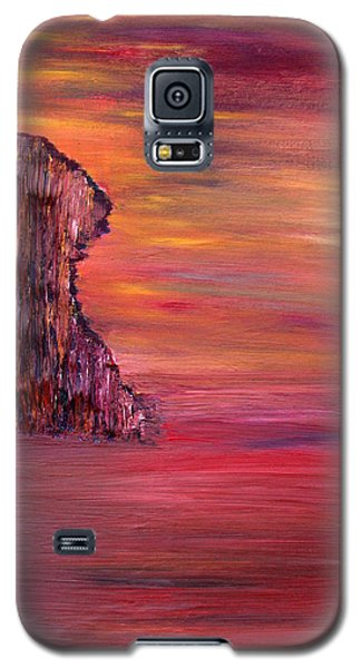 Galaxy S5 Case featuring the painting Lonely Rock by Vadim Levin
