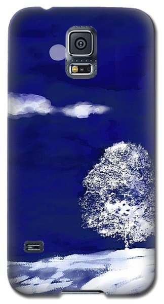 Galaxy S5 Case featuring the digital art Lonely Winter Tree by Mary Armstrong