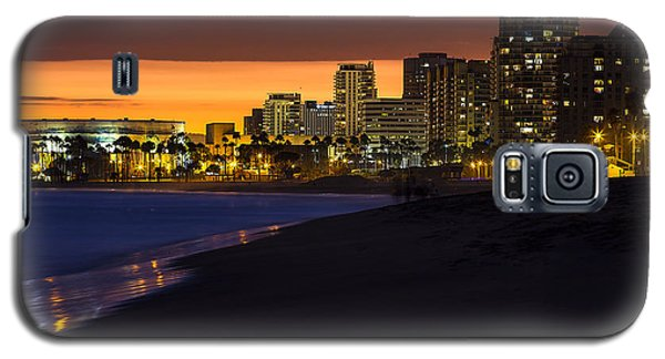 Long Beach Comes Alive At Dusk By Denise Dube Galaxy S5 Case