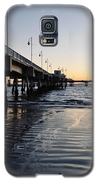 Galaxy S5 Case featuring the photograph Long Beach Pier by Kyle Hanson
