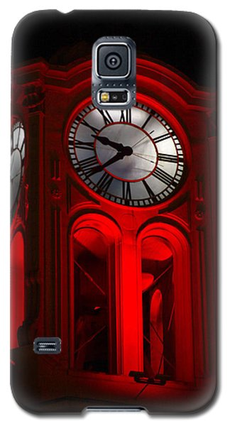 Long Beach Pine Ave. Clock Tower In Red Galaxy S5 Case