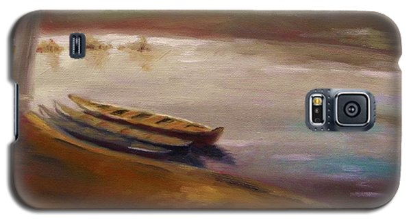 Long Boats At The Crossing Galaxy S5 Case by John Williams