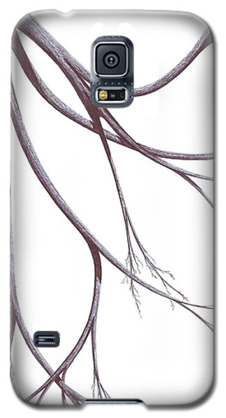 Galaxy S5 Case featuring the drawing Long Branches by Giuseppe Epifani