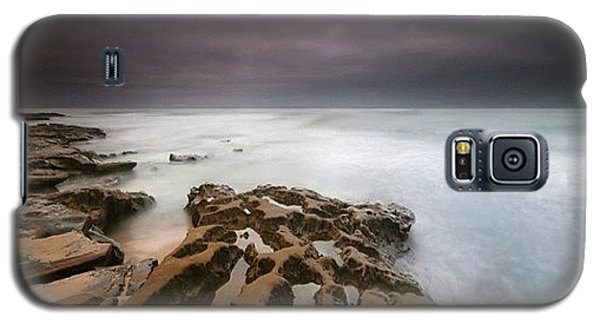 Galaxy S5 Case - Long Exposure Sunset On A Dark Stormy by Larry Marshall
