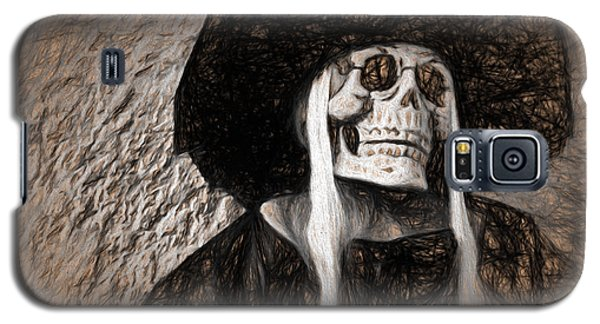 Long Haired Skeleton Galaxy S5 Case