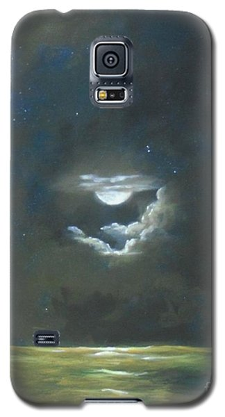 Galaxy S5 Case featuring the painting Long Journey Home by Marlene Book