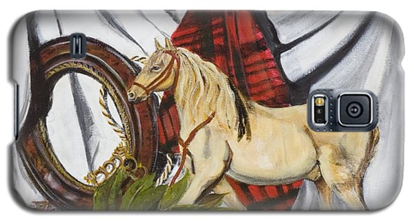 Galaxy S5 Case featuring the painting Long May He Ride by Susan Culver