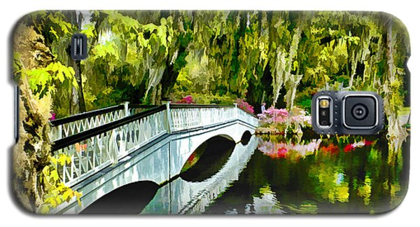 Long White Bridge Faux Painting Galaxy S5 Case