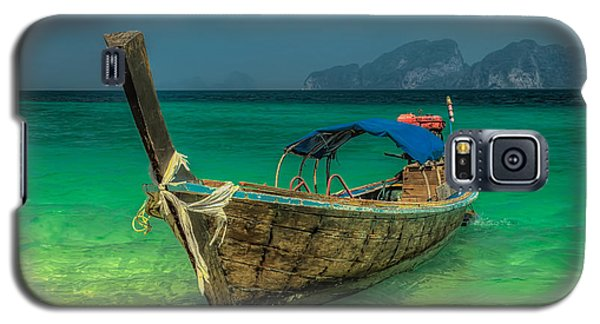 Transportation Galaxy S5 Case - Longboat by Adrian Evans