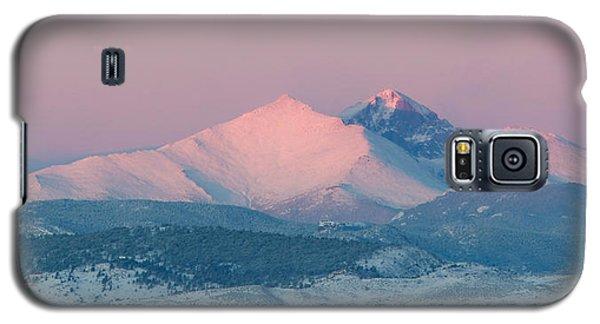 Longs Peak Alpenglow In Winter Galaxy S5 Case