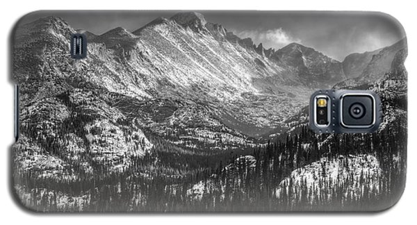 Longs Peak Rocky Mountain National Park Black And White Galaxy S5 Case