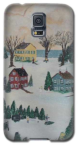 Galaxy S5 Case featuring the painting Looking For A Tree by Virginia Coyle